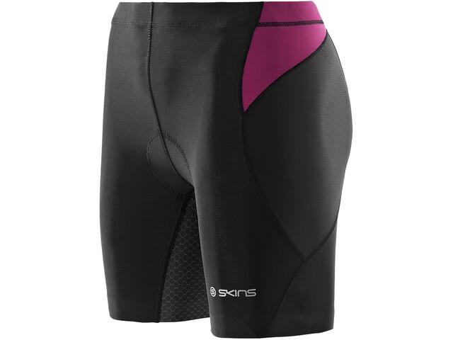 Skins TRI400 Tri Shorts Damen black/orchid